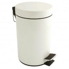 Witte pedaalemmer 3ltr Afvalbakken