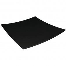 Kristallon gebogen vierkant bord zwart 310x310mm Kristallon Servies