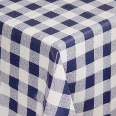 PVC tafelkleed blauw/wit 135x135cm Tafelkleden