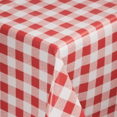 PVC tafelkleed rood/wit 135x135cm Tafelkleden