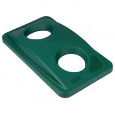 Rubbermaid Slim Jim deksel groen Afvalcontainers