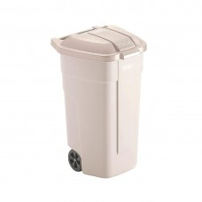 Rubbermaid rolcontainer met beige deksel Afvalcontainers