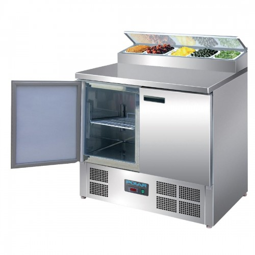Polar gekoelde pizza/salade prepareer counter 254ltr Koelwerkbanken