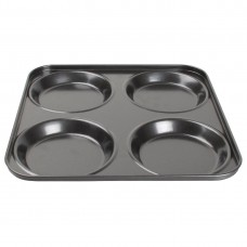 Vogue antikleef Yorkshire pudding bakplaat 4 vormen Bakplaten