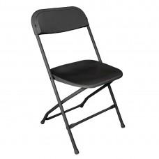 Bolero opklapbare stoel zwart (10 stuks) Klapstoelen