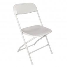 Bolero opklapbare stoel wit (10 stuks) Klapstoelen