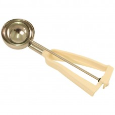 Bonzer® Litegrip portioneerlepel ivoor RVS maat 10 (9,6cl) Portioneerlepels
