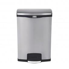 Rubbermaid Slim Jim pedaalemmer met pedaal aan voorzijde RVS 90ltr Afvalbeheer