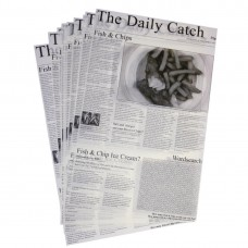 Vetvrij papier krant opdruk 27x42cm (500 vel) Presenteer Artikelen