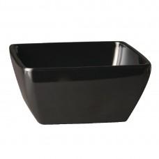 Pure melamine vierkante kom zwart 12,5x12,5cm Melamine Pure