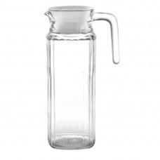 Olympia glazen kan met deksel 1ltr Karaffen