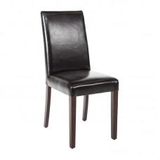 Bolero kunstlederen stoelen zwart (2 stuks) Gestoffeerde Stoelen