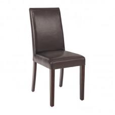 Bolero kunstlederen stoelen donkerbruin (2 stuks) Gestoffeerde Stoelen