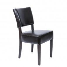 Bolero ruige imitatielederen stoel donkerbruin (2 stuks) Gestoffeerde Stoelen