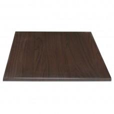Bolero vierkant tafelblad donkerbruin 60cm Vierkante Tafelbladen