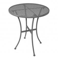 Bolero stalen bistrotafel rond met patroon 600mm grijs Bistrotafels