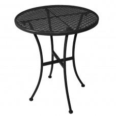 Bolero stalen bistrotafel rond 60cm zwart Bistrotafels