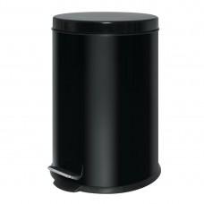 Pedaalemmer rvs 20 liter zwart Afvalbakken
