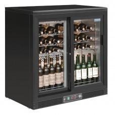 Polar horizontale wijnkoeling met schuifdeuren Wijnklimaatkasten