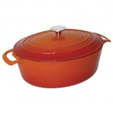 Vogue ovale braadpan 5 liter oranje