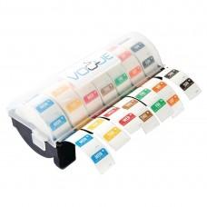 Vogue 2,5cm multidispenser inclusief 7 rollen voedseletiketten daglabels oplosbaar Hygiene Dagstickers