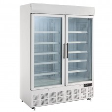 Polar display vriezer met lichtkoof 920ltr Display Vriezers