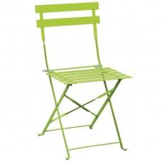Bolero stalen terrasstoelen limoen groen 2 stuks Bistrostoel