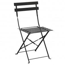 Bolero stalen terrasstoelen zwart 2 stuks Bistrostoel