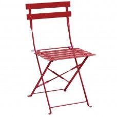 Bolero stalen terrasstoelen rood 2 stuks Bistrostoel