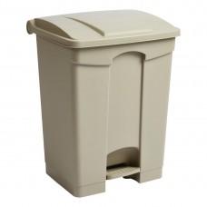 Jantex beige pedaal afvalbak 65Ltr Afvalbeheer