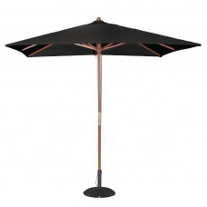Bolero vierkante zwarte parasol 2,5 meter Parasols