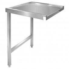 Vogue doorvoer spoeltafel links 60cm RVS Werktafels