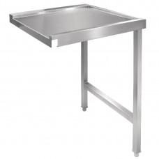 Vogue doorvoer spoeltafel rechts 60cm RVS Werktafels