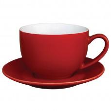 Olympia cappuccino kop rood 34cl Olympia Gekleurd