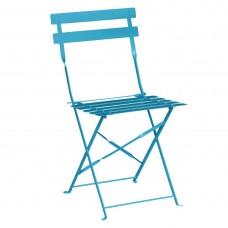 Bolero opklapbare stalen stoelen blauw (2 stuks) Bistrostoel