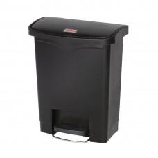 Rubbermaid Slim Jim pedaalemmer met pedaal aan voorzijde 30ltr zwart Afvalbeheer