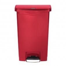 Rubbermaid Slim Jim pedaalemmer met pedaal aan voorzijde 50ltr rood Afvalbeheer