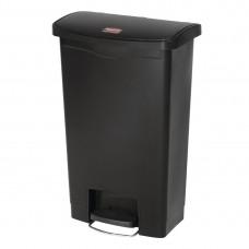Rubbermaid Slim Jim pedaalemmer met pedaal aan voorzijde 50ltr zwart Afvalbeheer