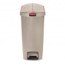 Rubbermaid Slim Jim pedaalemmer met pedaal aan zijkant 50ltr beige Afvalbeheer