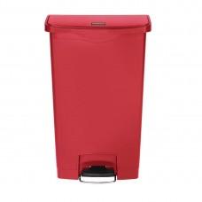 Rubbermaid Slim Jim pedaalemmer met pedaal aan voorzijde 68ltr rood Afvalbeheer