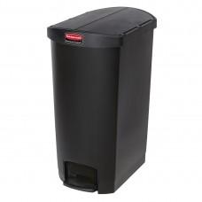 Rubbermaid Slim Jim pedaalemmer met pedaal aan zijkant 68ltr zwart Afvalbeheer