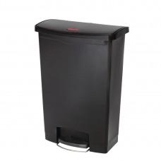 Rubbermaid Slim Jim pedaalemmer met pedaal aan voorzijde 90ltr zwart Afvalbeheer