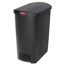 Rubbermaid Slim Jim pedaalemmer met pedaal aan zijkant 90ltr zwart Afvalbeheer