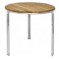 Bolero stapelbare tafel 60cm rond essen/aluminium poten Bistrotafels