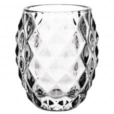 Olympia glazen diamant theelichthouder doorzichtig 7,5cm per 6