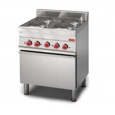 Gastro-M 650-serie elektrisch fornuis met 4 kookplaten en elektrische convectie oven Fornuizen
