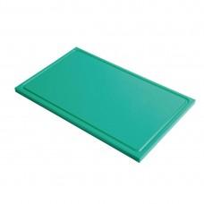 Gastro-M GN1/2 HDPE snijplank met sapgeul groen Snijplanken