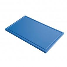 Gastro-M GN1/1 HDPE snijplank met sapgeul blauw Snijplanken