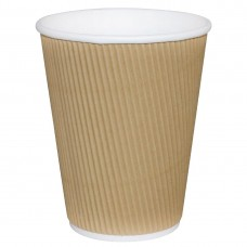 Fiesta Hot Cups met gerimpelde wand 23cl x25 Disposables Koffiebekers