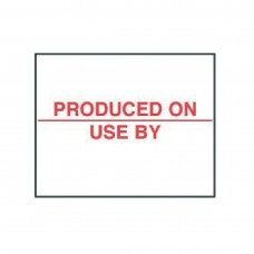 Produced On/Use by labels 20x16mm Hygiene Dagstickers